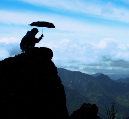梅雨の登山