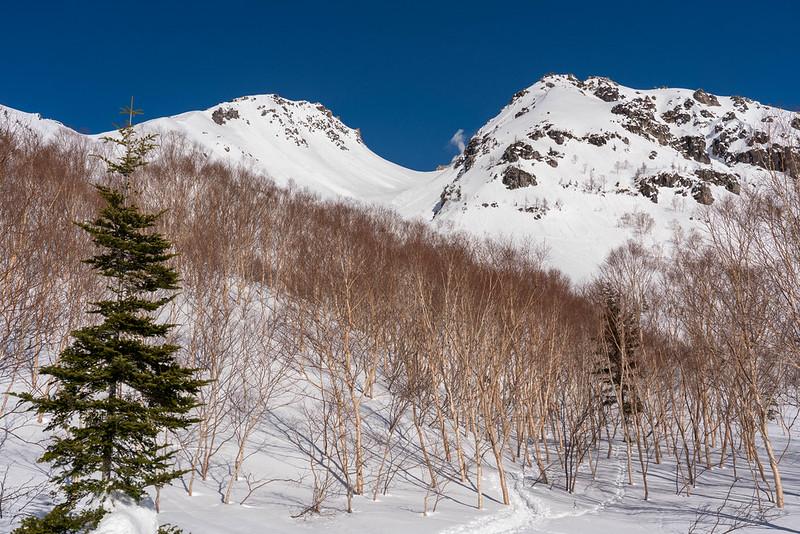 冬の北アルプス焼岳