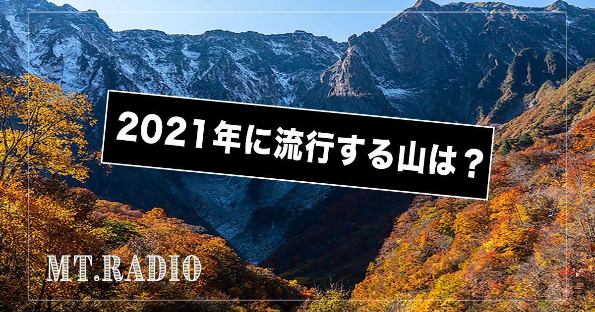 2021年流行する山